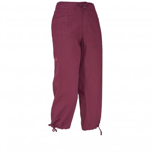Women MILLET LD ROCK HEMP 3/4 PANT Red Outlet Store