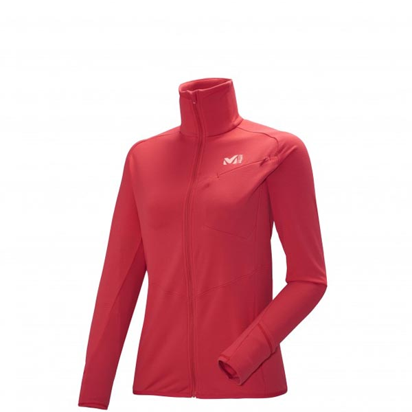 Women MILLET LD LTK THERMAL JKT trail running - Women\'s Fleece jacket - Red Outlet Store