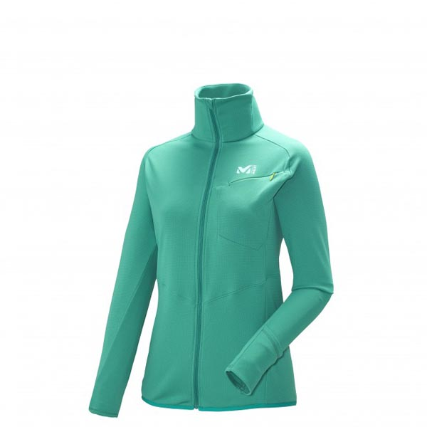 MILLET TRAIL RUNNING - WOMEN\'S FLEECE JACKET - GREEN On Sale