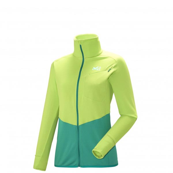 MILLET TRAIL RUNNING - WOMEN'S FLEECE JACKET - GREEN On Sale