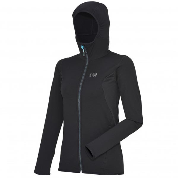 Women MILLET LD TECH STRETCH LIGHT HOODIE black Outlet Store