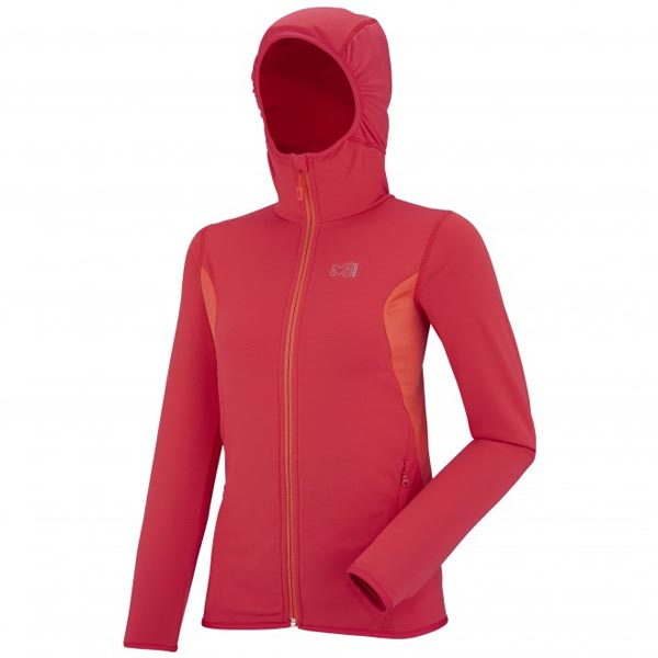 MILLET Women LD TECH STRETCH LIGHT HOODIE RED Outlet Online