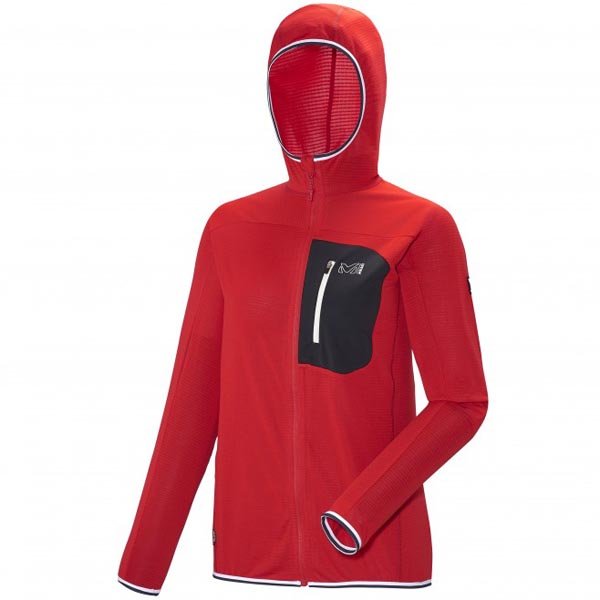 Women MILLET LD TRILOGY LIGHT HOODIE Red Outlet Store