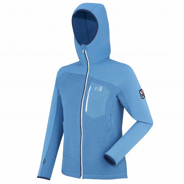 Women MILLET LD TRILOGY FLEECE WOOL HOODIE blue Outlet Store
