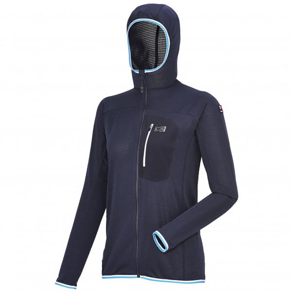 Women MILLET LD TRILOGY LIGHT HOODIE blue Outlet Store