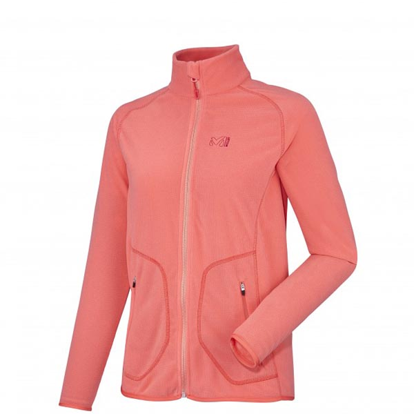 MILLET women\'s pink trekking fleece On Sale