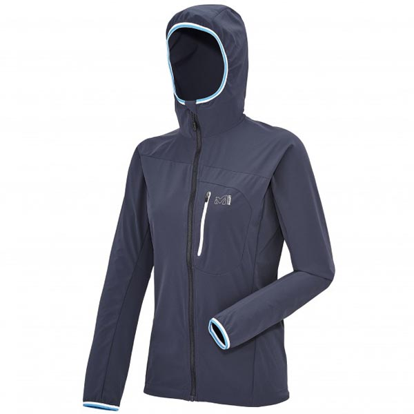 MILLET blue mountaineering Softshell for women On Sale