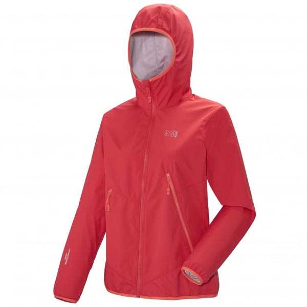 Women MILLET LD GREPON WDS LIGHT HOODIE Red Outlet Store
