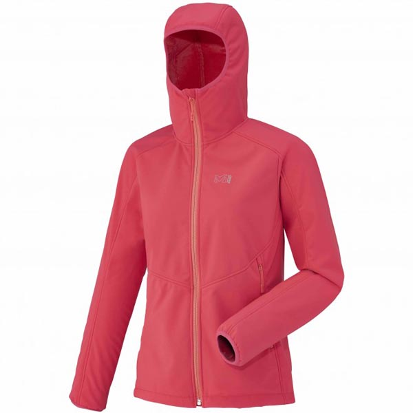 Women MILLET LD SHUKSAN HIGH LOFT HOODIE Red Outlet Store
