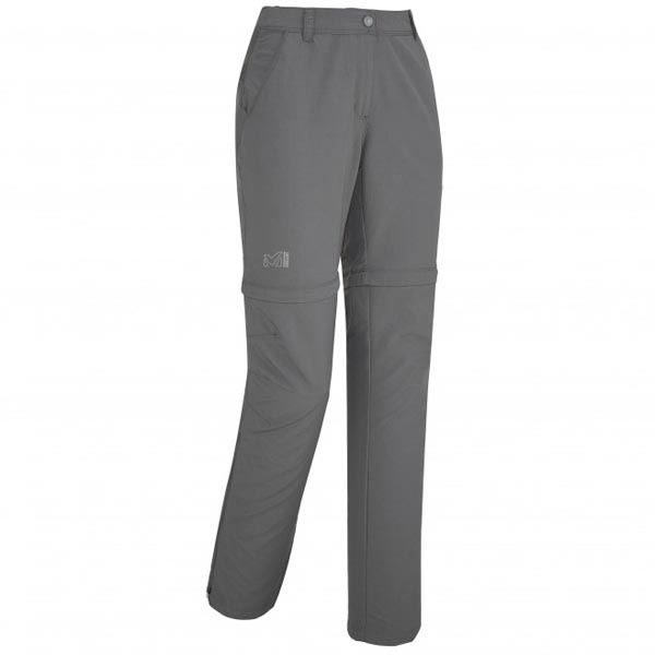 Women MILLET LD MOUNT CLEVELAND ZIP OFF PANT Grey Outlet Store
