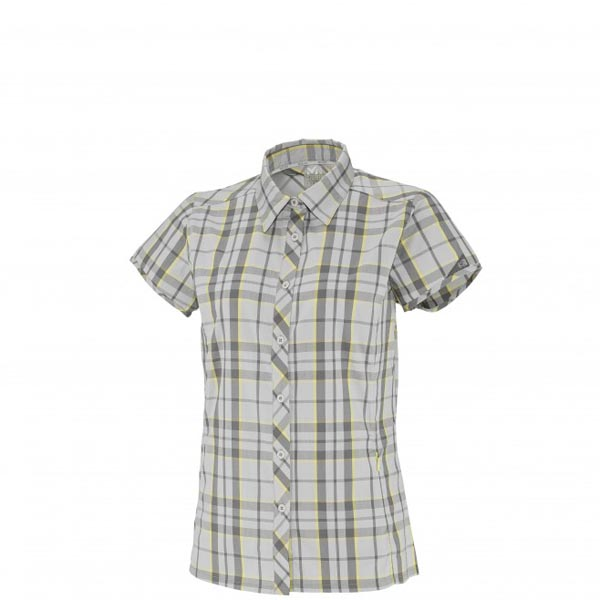 Women MILLET LD KINGS PEAK WOOL SS SHIRT Grey Outlet Store