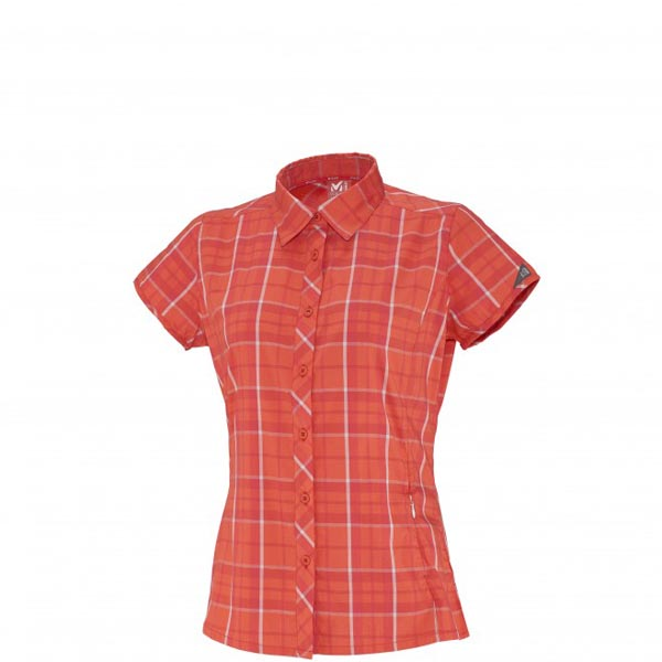 Women MILLET LD KINGS PEAK WOOL SS SHIRT Rose Outlet Store