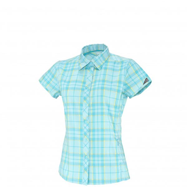 Women MILLET LD KINGS PEAK WOOL SS SHIRT Turquoise Outlet Store