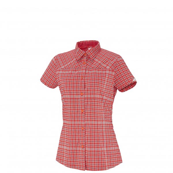 Women MILLET LD CASTLE PEAK SS SHIRT Red Outlet Store