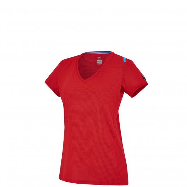 Women MILLET LD TRILOGY DRY GRID TS SS Red Outlet Store