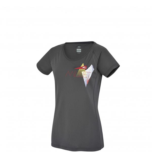 Women MILLET LD POWER SUMMIT TS SS Grey Outlet Store
