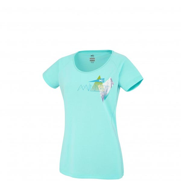 Women MILLET LD POWER SUMMIT TS SS BLUE Outlet Store