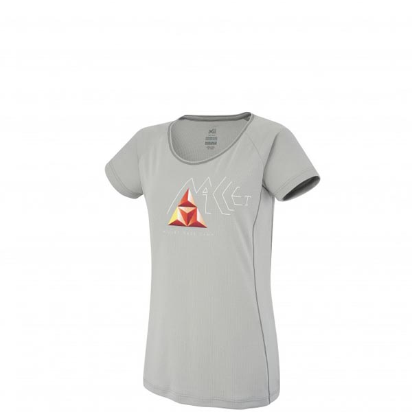 Women MILLET LD POWER BASE CAMP TS SS Grey Outlet Store