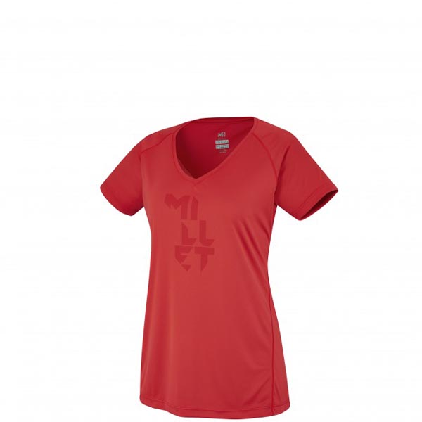 Women MILLET LD LTK INTENSE TS SS RED Outlet Store