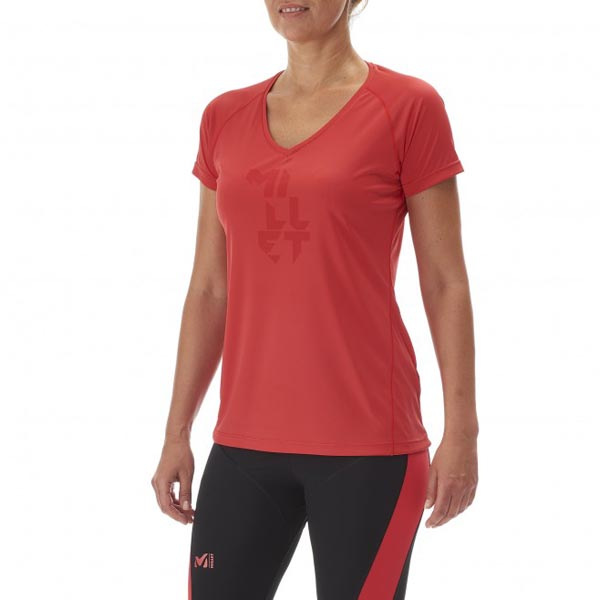 MILLET TRAIL RUNNING - WOMEN\'S T-SHIRT - RED On Sale
