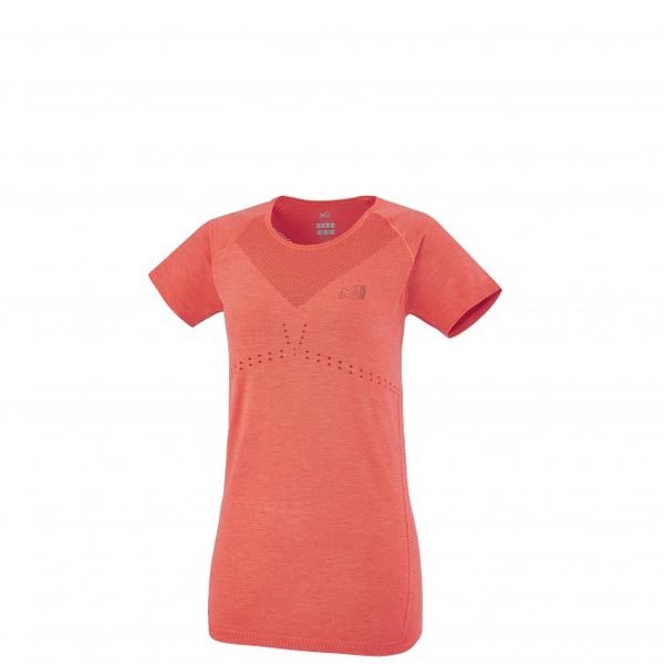 Women MILLET LD SEAMLESS MOTION TS Red Outlet Store
