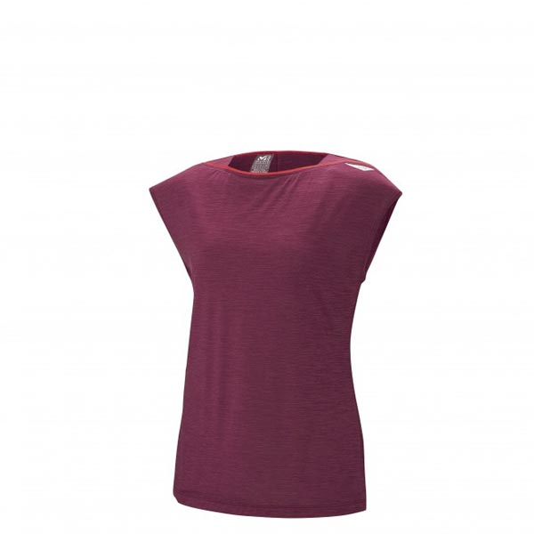 Women MILLET LD CLOUD PEAK WOOL TS SS Red Outlet Store
