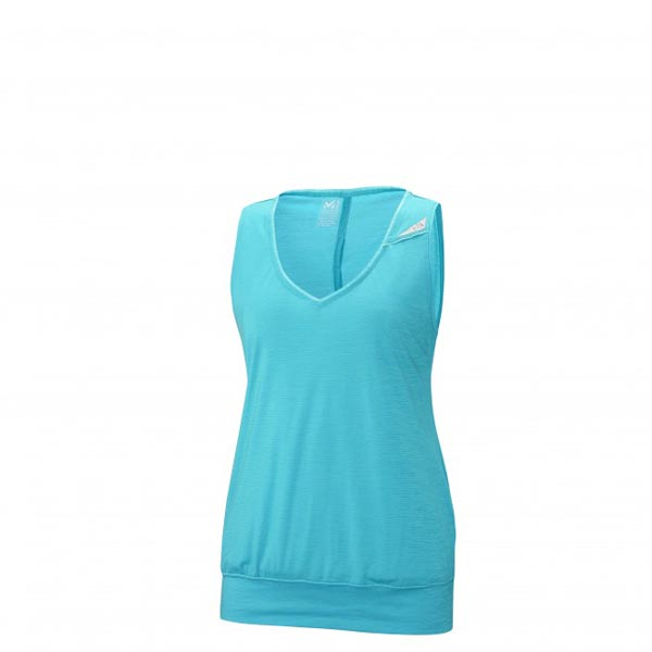 Women MILLET LD CLOUD PEAK WOOL TANK Turquoise Outlet Store