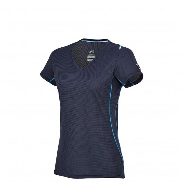 MILLET blue mountaineering Tee-Shirt for women On Sale