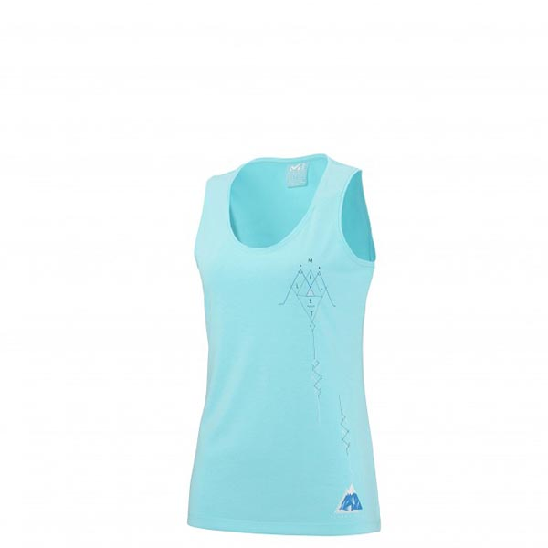 Women MILLET LD BORAH PEAK TANK Blue Outlet Store