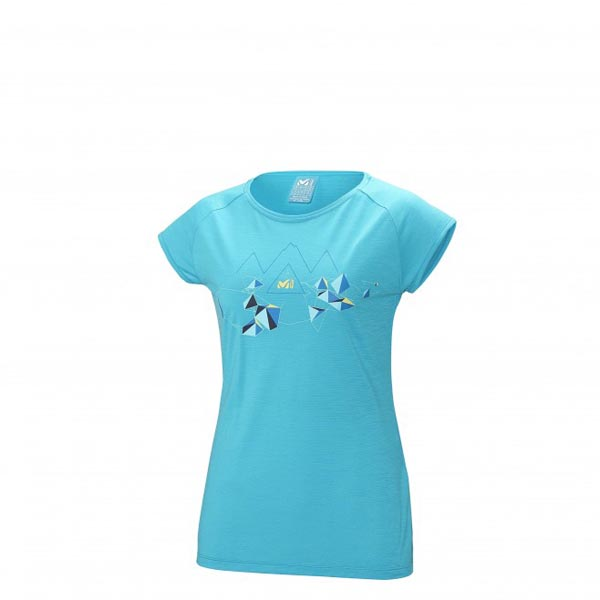 Women MILLET LD BLANCA PEAK WOOL TS SS Turquoise Outlet Store
