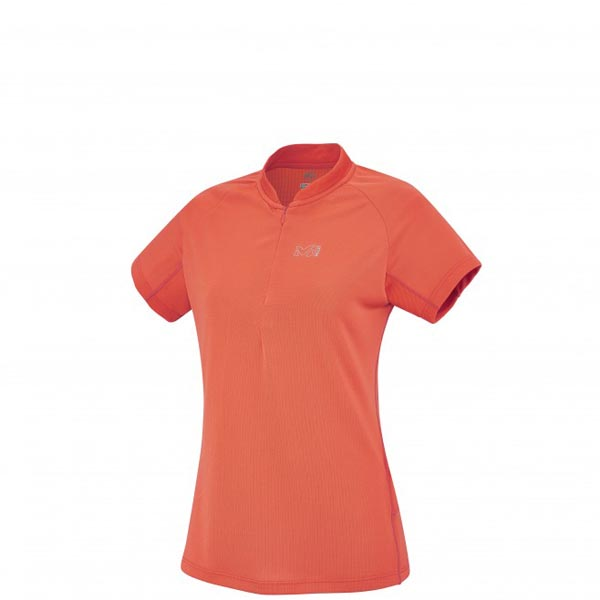 Women MILLET LD SUNNY ALPI ZIP SS Orange Outlet Store