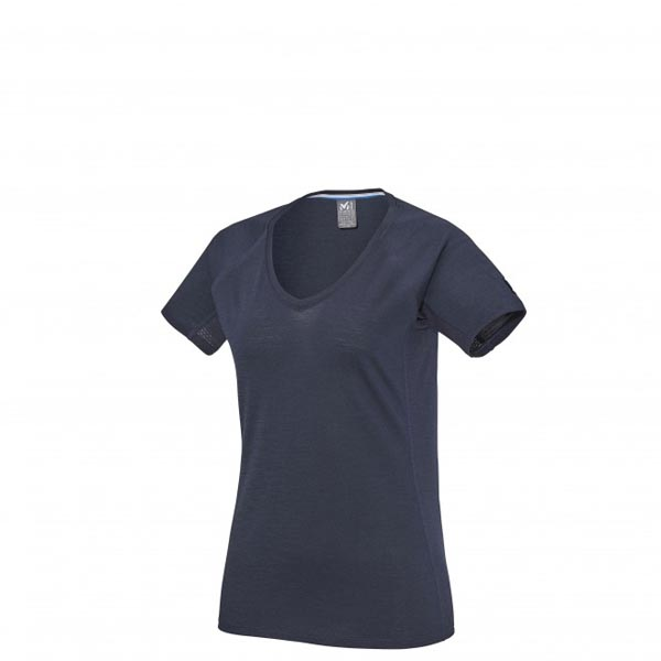 Women MILLET LD TRILOGY WOOL TS SS navy Outlet Store
