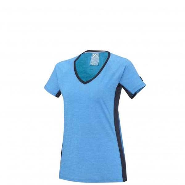 Women MILLET LD TRILOGY WOOL TS SS BLUE Outlet Store